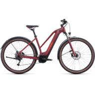 CUBE NURIDE HYBRID PERFORMANCE 625 ALLROAD TRAPÉZ DARKRED´N´RED Női Elektromos Cross Trekking Kerékpár 2022