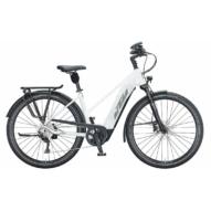 KTM MACINA TOUR CX 610 TRAPÉZ metallic white (grey+golden green) Női Elektromos Trekking Kerékpár 2021