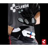 Cube AM kesztyű fekete/fehér/piros/kék hosszú