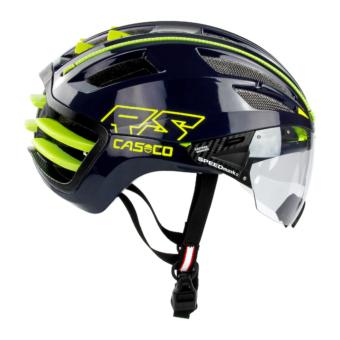 CASCO SPEEDairo 2 RS blue-neon yellow Kerékpáros Bukósisak 2021