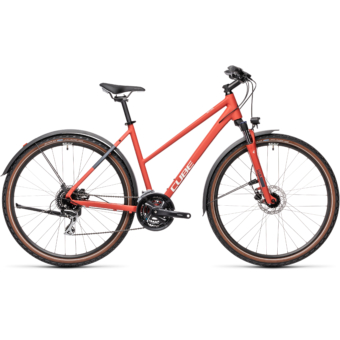 """CUBE NATURE ALLROAD RED´N´GREY 28"""" TRAPÉZ 2021"""
