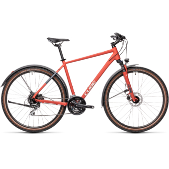 """CUBE NATURE ALLROAD RED´N´GREY 28"""" 2021"""