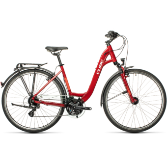 "CUBE TOURING DARKRED´N´GREY 28"" EASY ENTRY Unisex Trekking Kerékpár 2021"