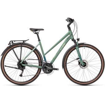"CUBE TOURING EXC GREENBLUE´N´BLUEGREEN 28"" TRAPÉZ 2021"