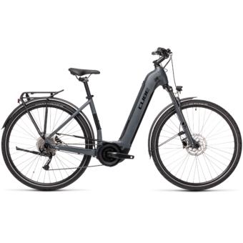 CUBE TOURING HYBRID ONE 500 EASY ENTRY grey´n´black Unisex Elektromos Trekking Kerékpár 2021