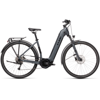 CUBE TOURING HYBRID ONE 625 EASY ENTRY grey´n´black Unisex Elektromos Trekking Kerékpár 2021