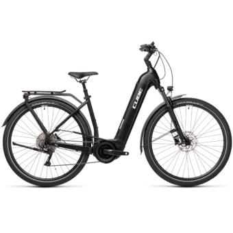 CUBE TOURING HYBRID PRO 625 EASY ENTRY black´n´white Unisex Elektromos Trekking Kerékpár 2021