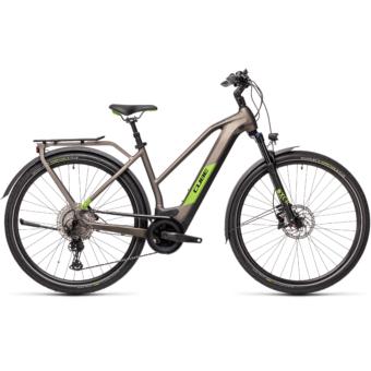 CUBE KATHMANDU HYBRID EXC 625 TRAPÉZ teak´n´green Női Elektromos Trekking Kerékpár 2021
