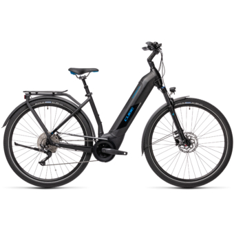 CUBE KATHMANDU HYBRID PRO 625 EASY ENTRY black´n´blue Unisex Elektromos Trekking Kerékpár 2021