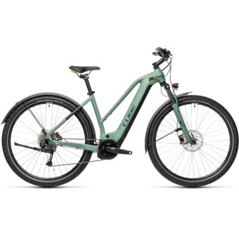 CUBE NATURE HYBRID ONE 500 ALLROAD TRAPÉZ green´n´sharpgreen Női Elektromos Cross Trekking Kerékpár 2021
