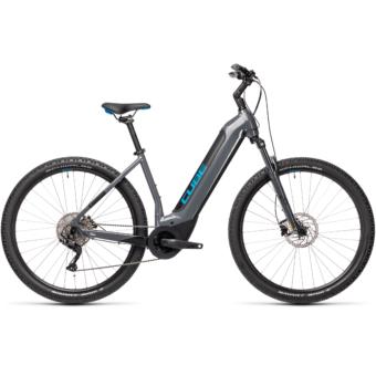 CUBE NURIDE HYBRID PRO 500 grey´n´blue Unisex Elektromos MTB Kerékpár 2021