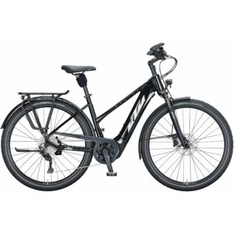 KTM MACINA TOUR CX 610 TRAPÉZ metallic black (white+golden green) Női Elektromos Trekking Kerékpár 2021