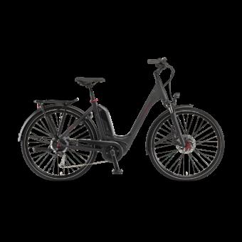 """Winora Tria 9 500 28"""" Black Matt EASY ENTRY Unisex Elektromos Trekking Kerékpár 2021"""