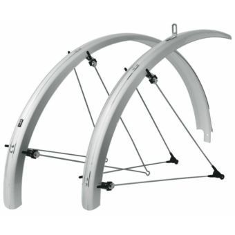 """SKS-Germany Bluemels 26"""" kerékpár sárvédő szett [ezüst, 65 mm]"""