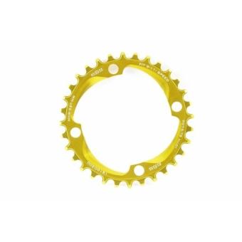 a2Z Narrow Wide (BCD: 96) 4 furatos kerékpár lánctányér [arany, 34]