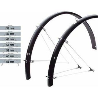"""SKS-Germany Bluemels Olympic 42mm 28"""" kerékpár sárvédő szett [fekete]"""