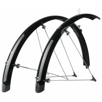 """SKS-Germany Bluemels Trekking 28"""" kerékpár sárvédő szett [fekete, 53 mm]"""