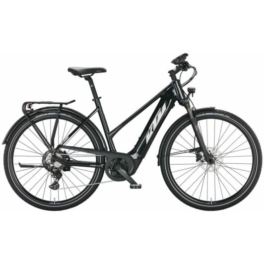KTM MACINA SPORT 630 TRAPÉZ BLACK Női Elektromos Trekking Kerékpár 2022