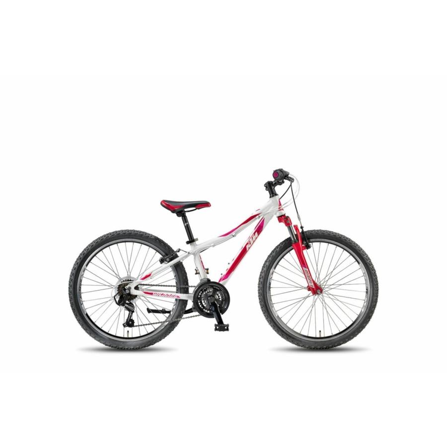 """KTM WILD BEE 24.18 MTB WHITE (BERRY+CORAL) 24"""" Gyermek Kerékpár"""