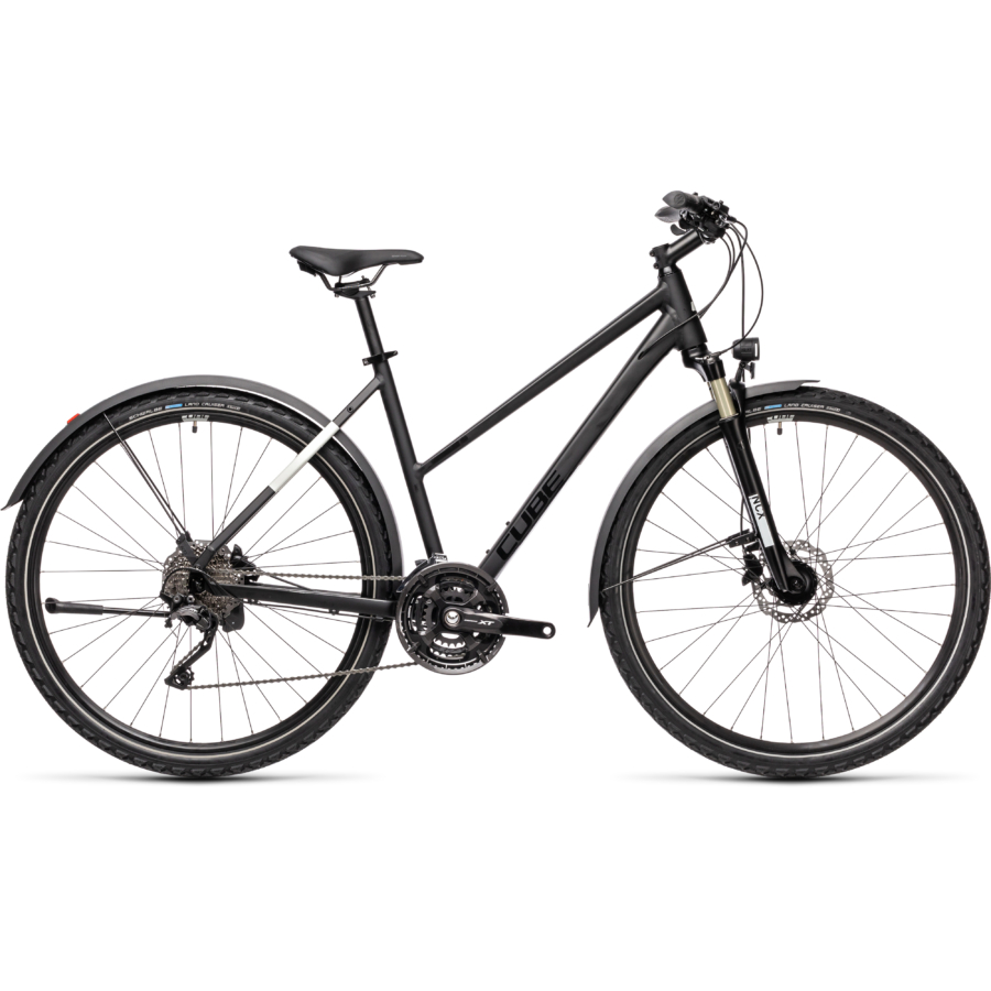 "CUBE NATURE EXC ALLROAD BLACK´N´GREY 28"" TRAPÉZ 2021"