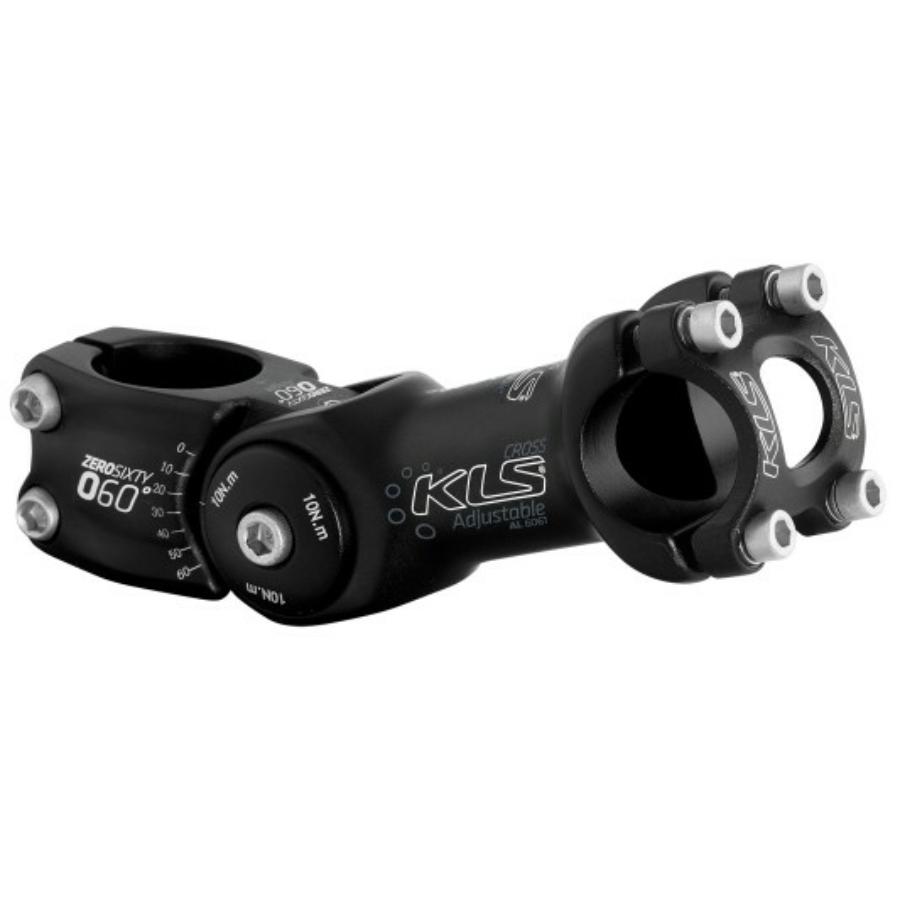 Kormányszár KLS CROSS black, Oversize 31,8mm, 125mm
