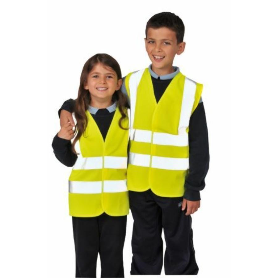 Portwest JN14 Gyerek láthatósági láthatósági mellény [sárga, S]