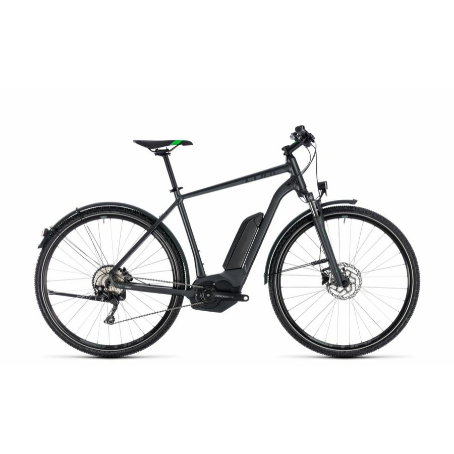 CUBE CROSS HYBRID PRO ALLROAD 500 GREY´N´FLASHGREEN 2018 Elektromos Kerékpár