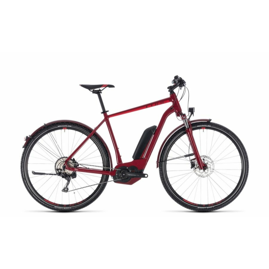 CUBE CROSS HYBRID PRO ALLROAD 500 DARKRED´N´RED 2018 Elektromos Kerékpár