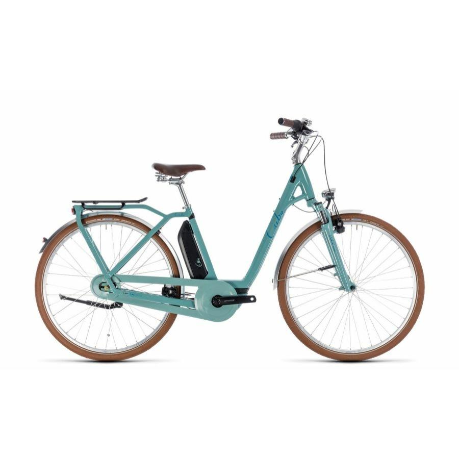 CUBE ELLY CRUISE HYBRID 500 PISTACHIO´N´BLUE 2018 EASY ENTRY Elektromos Kerékpár