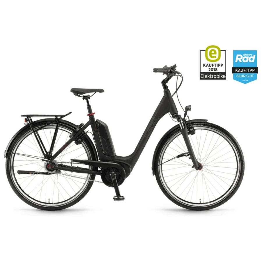 "Winora Tria N8f Einrohr 500Wh 28"" 8-G Nexus FL Unisex Elektromos Városi Kerékpár"